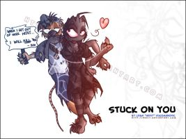 Stuck on You - TajBday2011Gift by Hexit