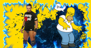 The Miz and Homer Simpson D'oh by robertly3