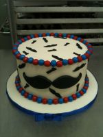 Moustache Cake by Spudnuts