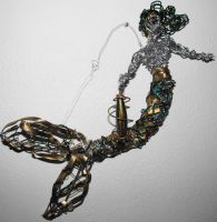 Remade gold and green mystic mermaid 2013 by metalpug