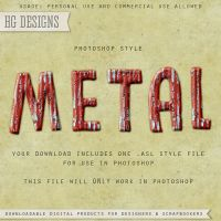 PS Style: METAL by HGGraphicDesigns