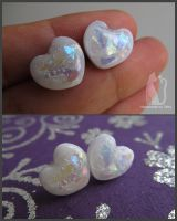 Opal heart earrings by Talty