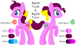 MLP:Apple Twist and Apple Twirl Profile by kiananuva12