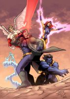 Uncanny X-Men COLORED by LucasAckerman