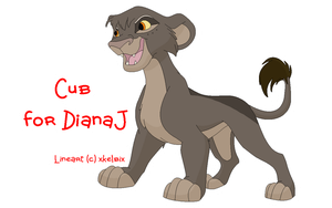 Cub for DianaJ by KaurauTheFox