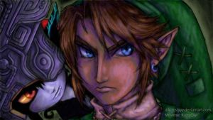 Link and Midna - Art Academy on Miiverse by rustyyy