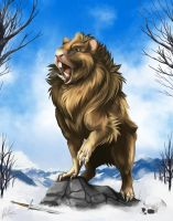 Guinea Lion [Commission] by FlyQueen