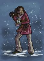 The Snowball Fight - Sianna by andariyel