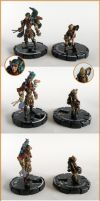 Miniatures - Astrus and Baldric by Bjerg