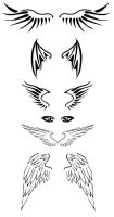 Wing Tattoos by Malicious-nightmare