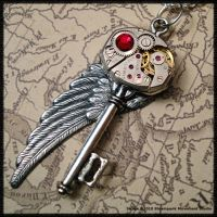 Steampunk Wing Key 25 by SoulCatcher06