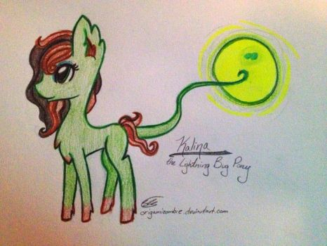 Kalina the Lightning Bug Pony by OrigamiZombie
