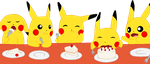 ~PokeBase~ Pikachu's cake by YukiMemories