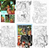 Jungle Girl final pages by Adrianohq
