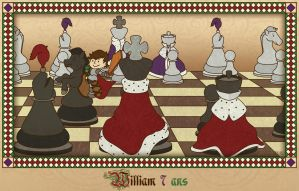 Chess Birthday Illustration by FROG-and-TOAD