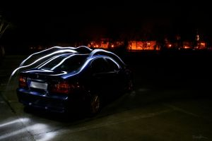 bmw e46 - 8 light painting by Lunox-baik