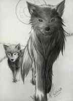 wolves by GrayWolfShadow