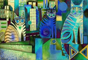 City Cats manip by karincharlotte
