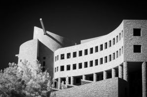 Clark County Government Center in Infrared by eprowe