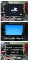 Blue screen anger by Sookybabi