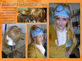FFX-2 Rikku wig Near Complete by xRikku-chanx
