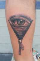 eyeball tattoo by graynd