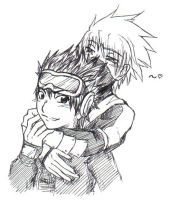 + Obito and Kakashi by Ruthea