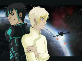 Cain and Abel - Starfighter by Purplepaws