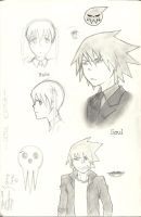 Soul Eater - Sketches I by Xtwinkle-toesX