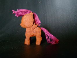 Scootaloo Woodwork by xofox