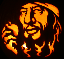 Captain Barbossa Pumpkin by johwee