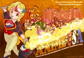 Anime USA 2012 Metro Station Banner by kevinbolk
