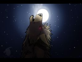 Lonely howl by thelunapower