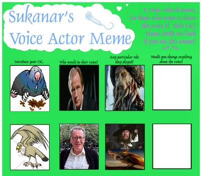 Voice Actor Meme #45 Thumbelina 2006 by Hillygon