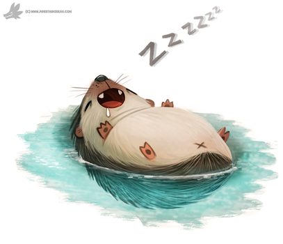 Daily Painting #867. Hedgederp by Cryptid-Creations