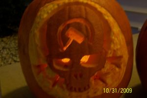 Halo 3: ODST pumkin carving by DeltaForcer4Hire