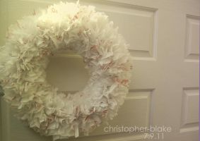 Recycled Wreath by abohemianbazaar