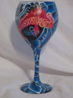 Koi inspired glass by yessica83