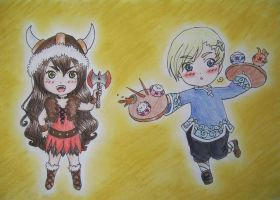 Taiwan Viking and Asian Norway by WildBerry83