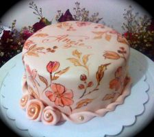 hand painted cake for angie by alcat2021