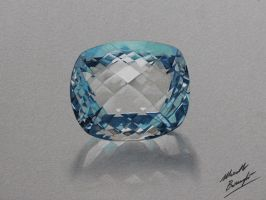 Aquamarine gemstone by marcellobarenghi