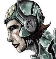 Cyborg Profile Color WIP by SleepDebt