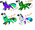 4 cute adopts by Bexgirl2803