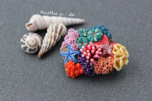 Miniature Corals Jewelry - Brooch by PetitPlat