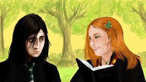Severus and Lily by Kleolanda