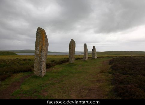Orkney Ring of Brogdar - standing stone circle 9 by faestock