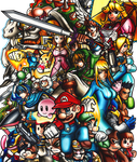 Super Smash Bros. by fastg35