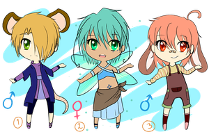 Chibi Adoptable Set #3 -CLOSED- by ReplayLife