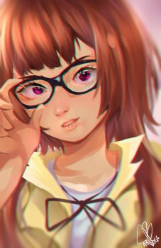 Glasses OC Painting by abiboge
