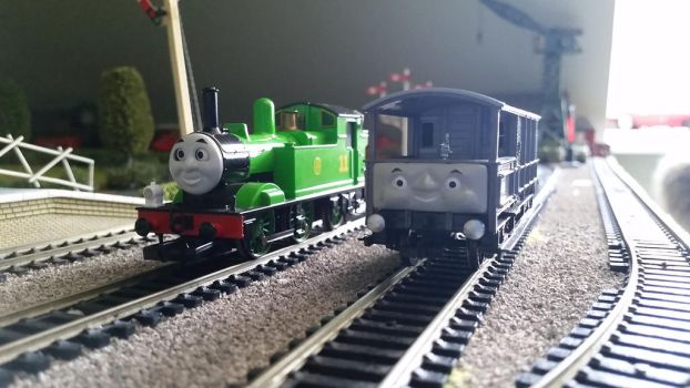 Bachmann Oliver and his brake van, Toad by 76859Thomasreturn